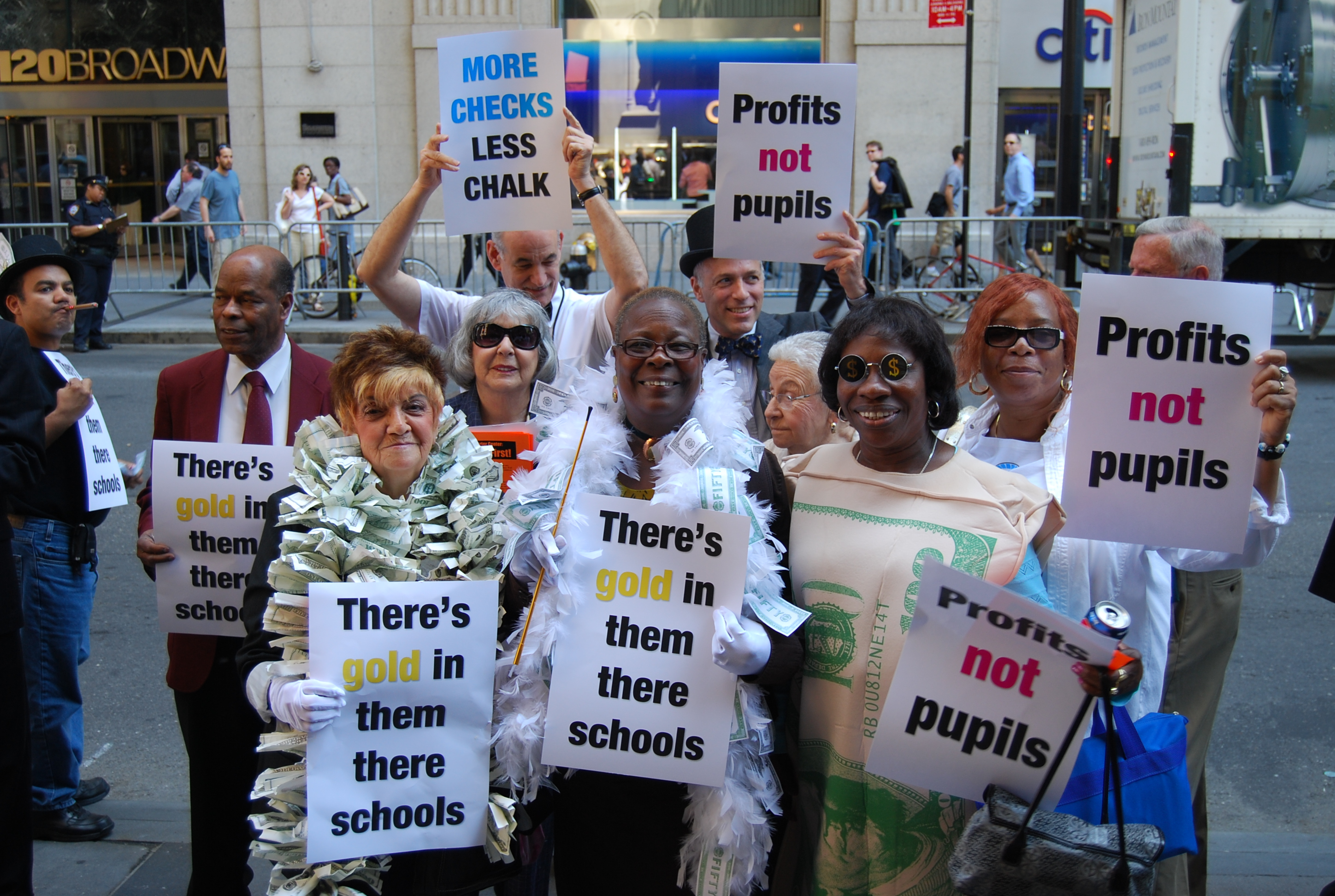 Charter school protest