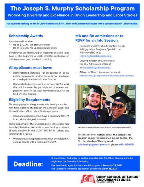 Diversity Scholarship for CUNY/SLU
