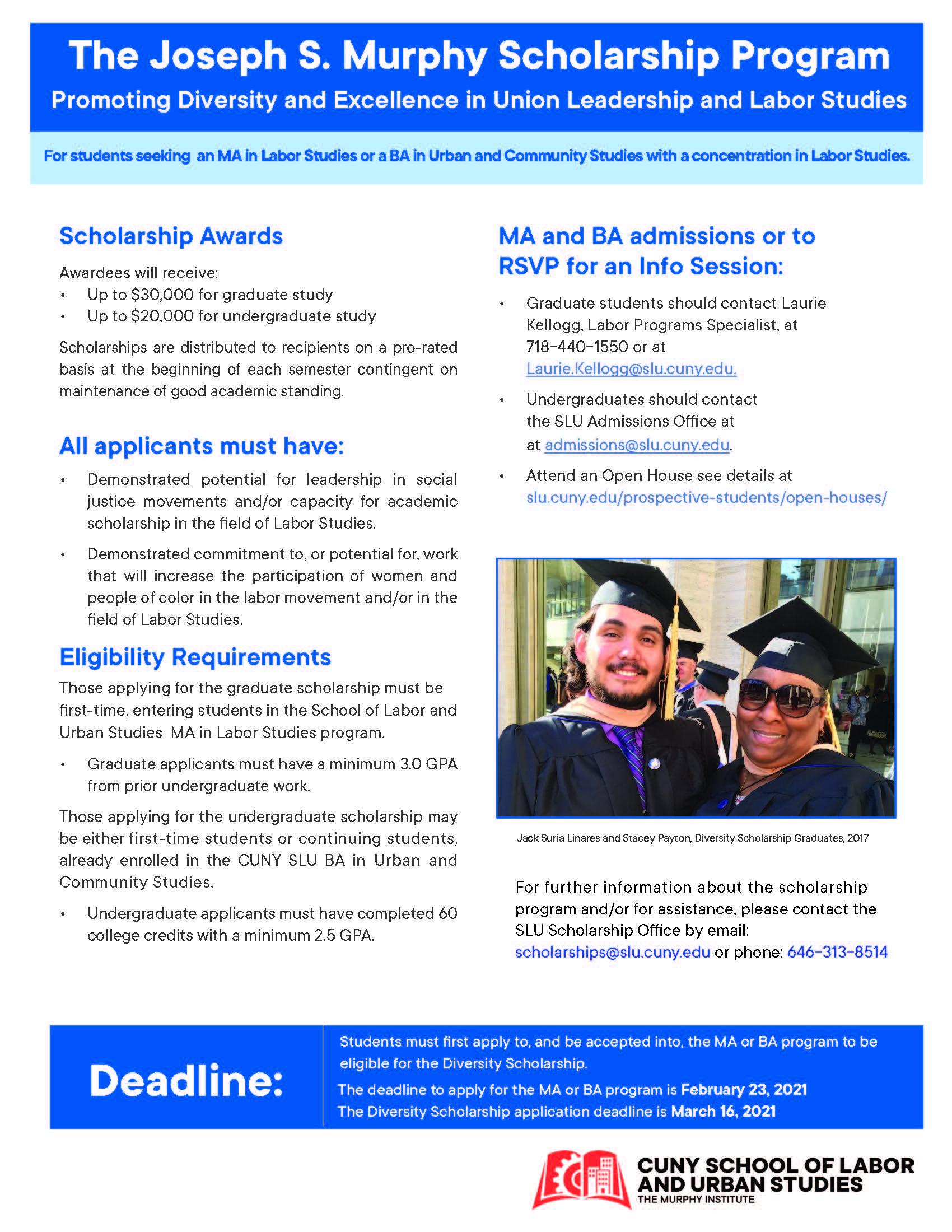 Diversity Scholarship for CUNY/SLU