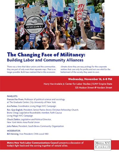 The Changing Face of Militancy panel discussion, Nov. 16, 2011